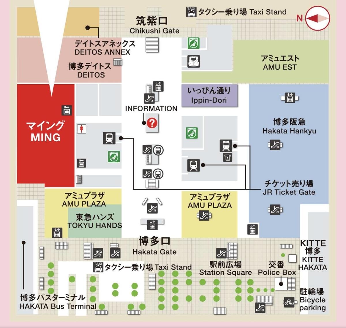 博多駅 マイングの場所 マップ 地図