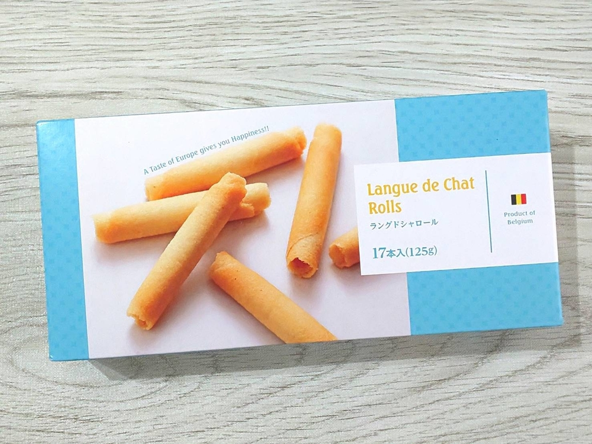 業務スーパー 海外輸入お菓子 ラングドシャロール 原材料 カロリー・栄養成分 口コミ