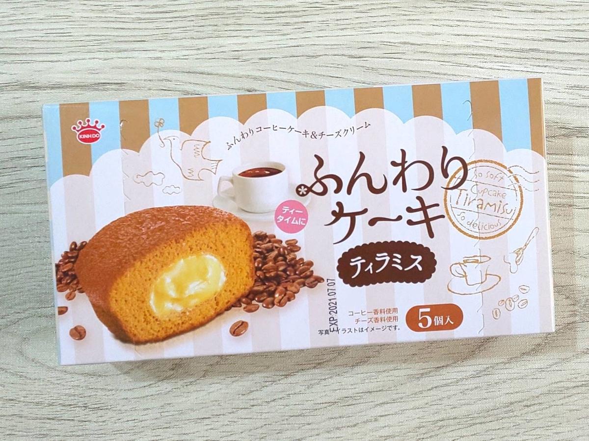 業務スーパー 海外輸入お菓子 ふんわりケーキ ティラミス 原材料 カロリー・栄養成分 口コミ