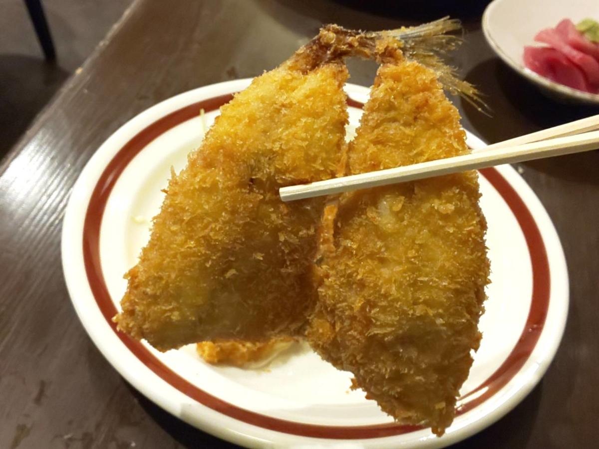 アジフライセンターおむこさん おすすめランチ 活きアジフライ定食 感想 口コミ レビュー