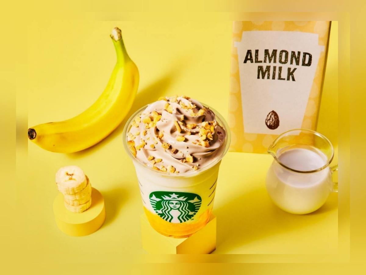 スタバ バナナンアーモンドミルクフラペチーノ 販売期間いつまで? サイズ 価格 口コミ レビュー