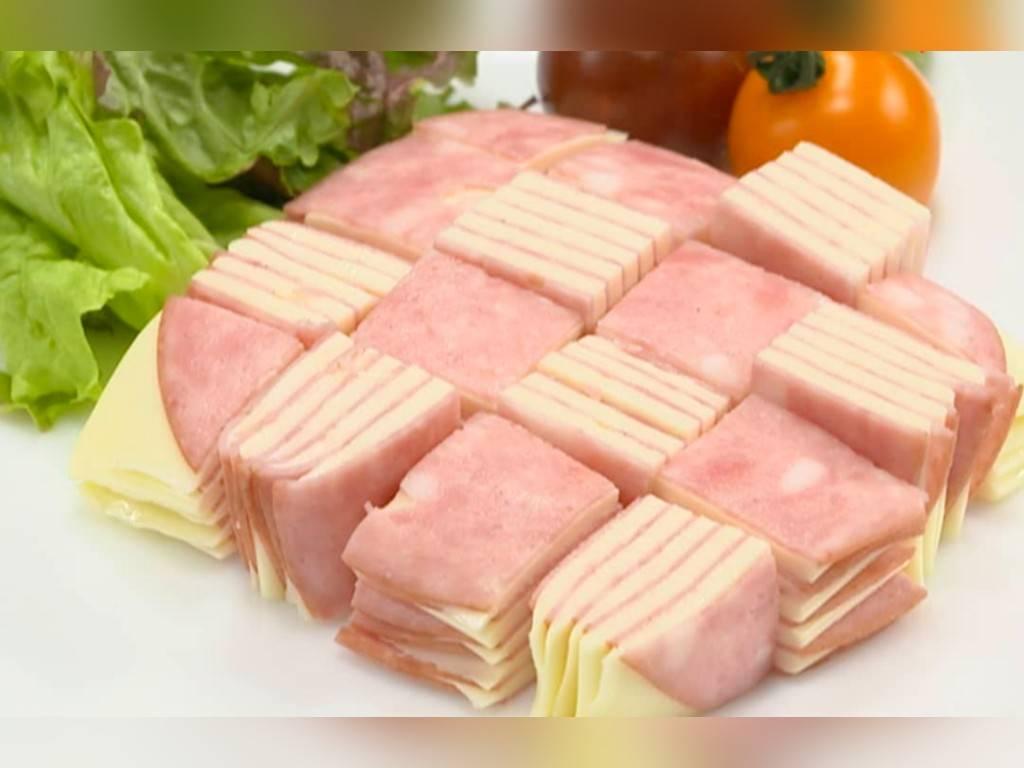 家事ヤロウ 簡単朝食レシピ 人気 ランキング  ハムチーズキューブ