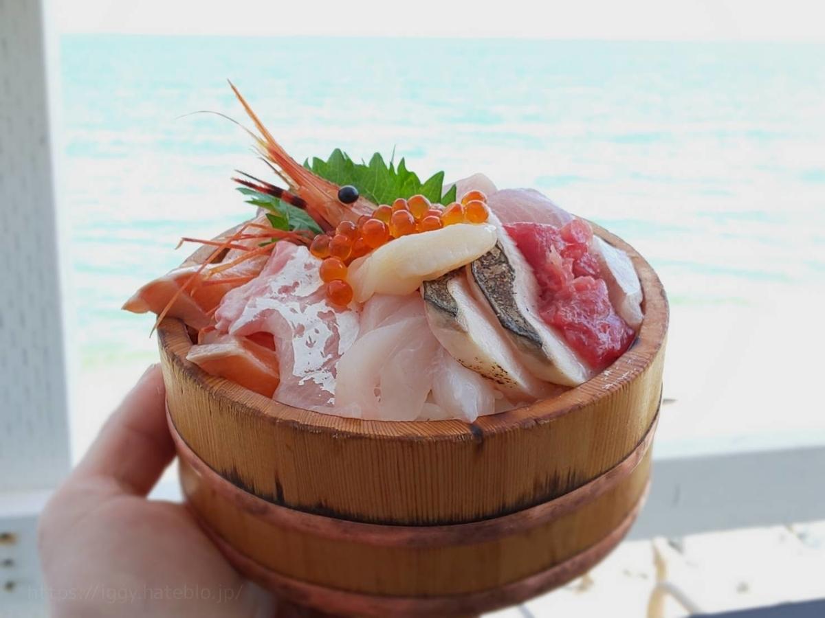 糸島食堂 人気メニュー 海鮮丼 オーシャンビュー 感想 口コミ レビュー