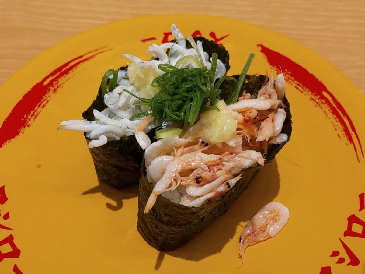 スシロー 人気メニューランキング 7位桜海老としらすの食べ比べ カロリー 口コミ 帰れま10