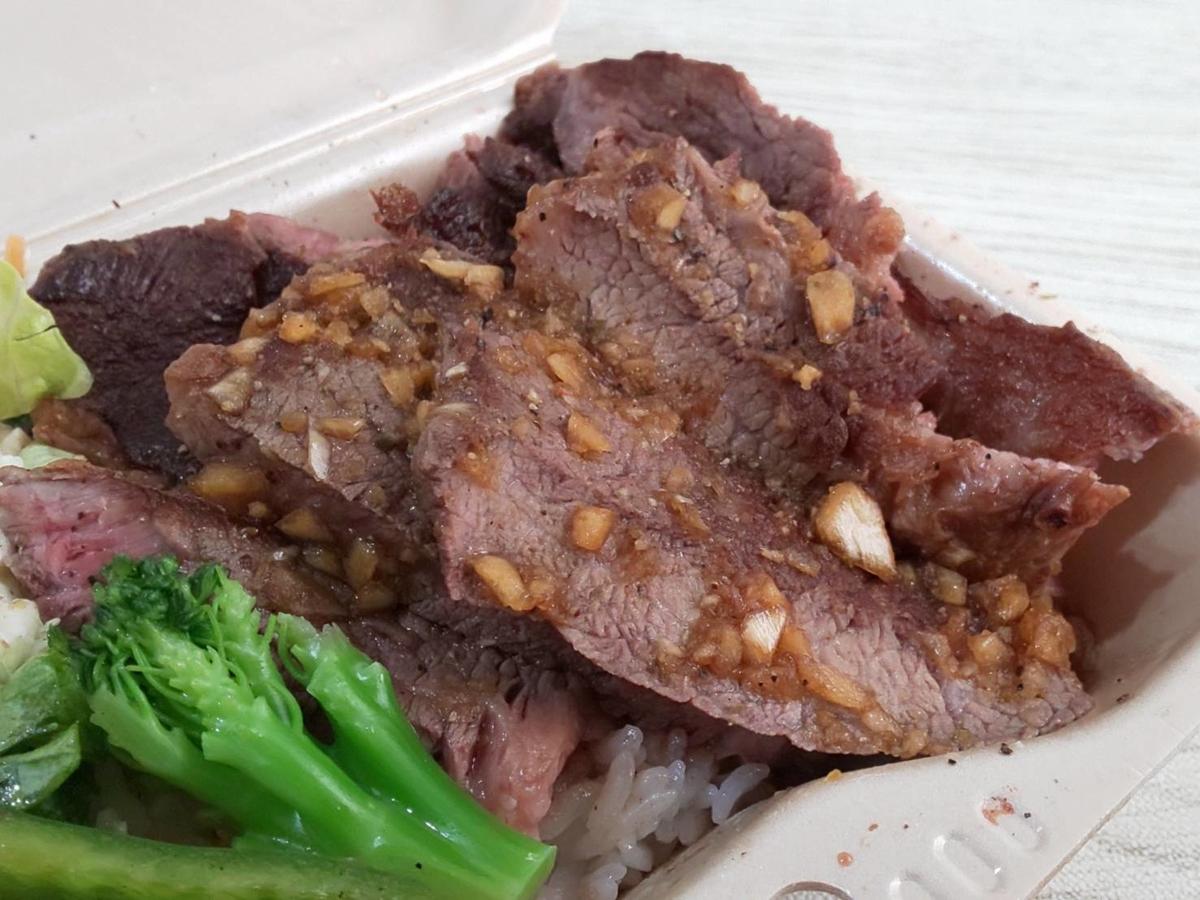 田中精肉店 おすすめテイクアウト ステーキ丼 肉 量200グラム 感想 口コミ レビュー