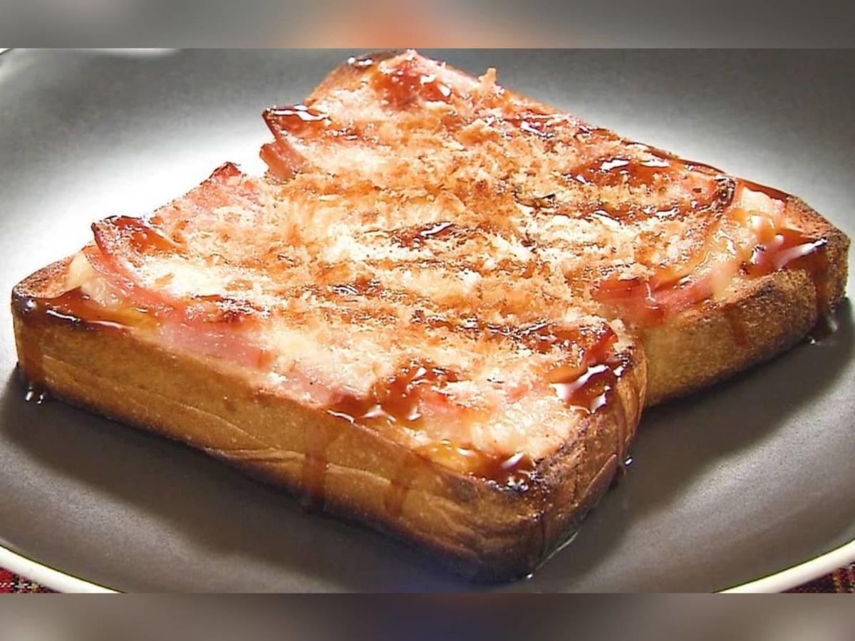 家事ヤロウ トーストレシピ 揚げないハムカツエッグトースト 材料 作り方 パン祭り  トースト