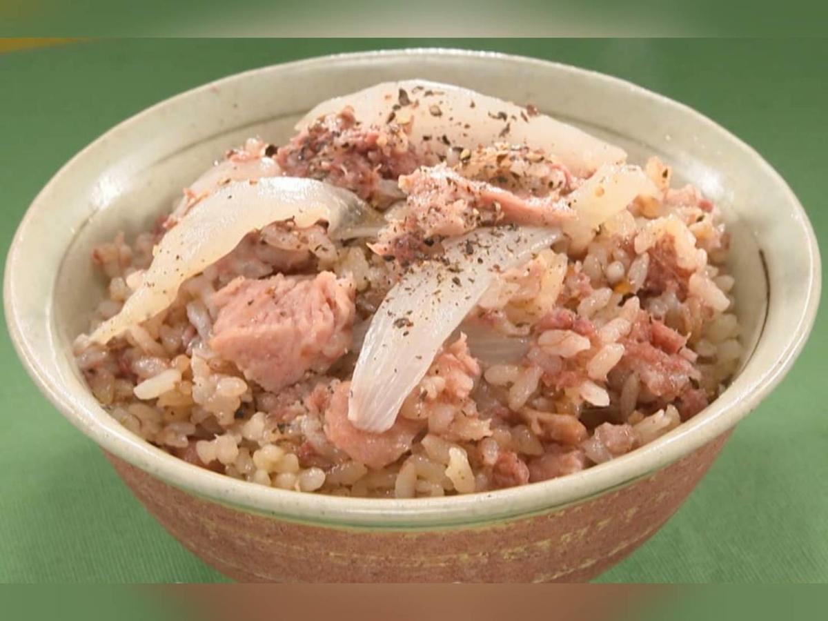 家事ヤロウ 簡単炊き込みご飯 レシピ コンビーフとスパムの最強肉飯 材料 作り方