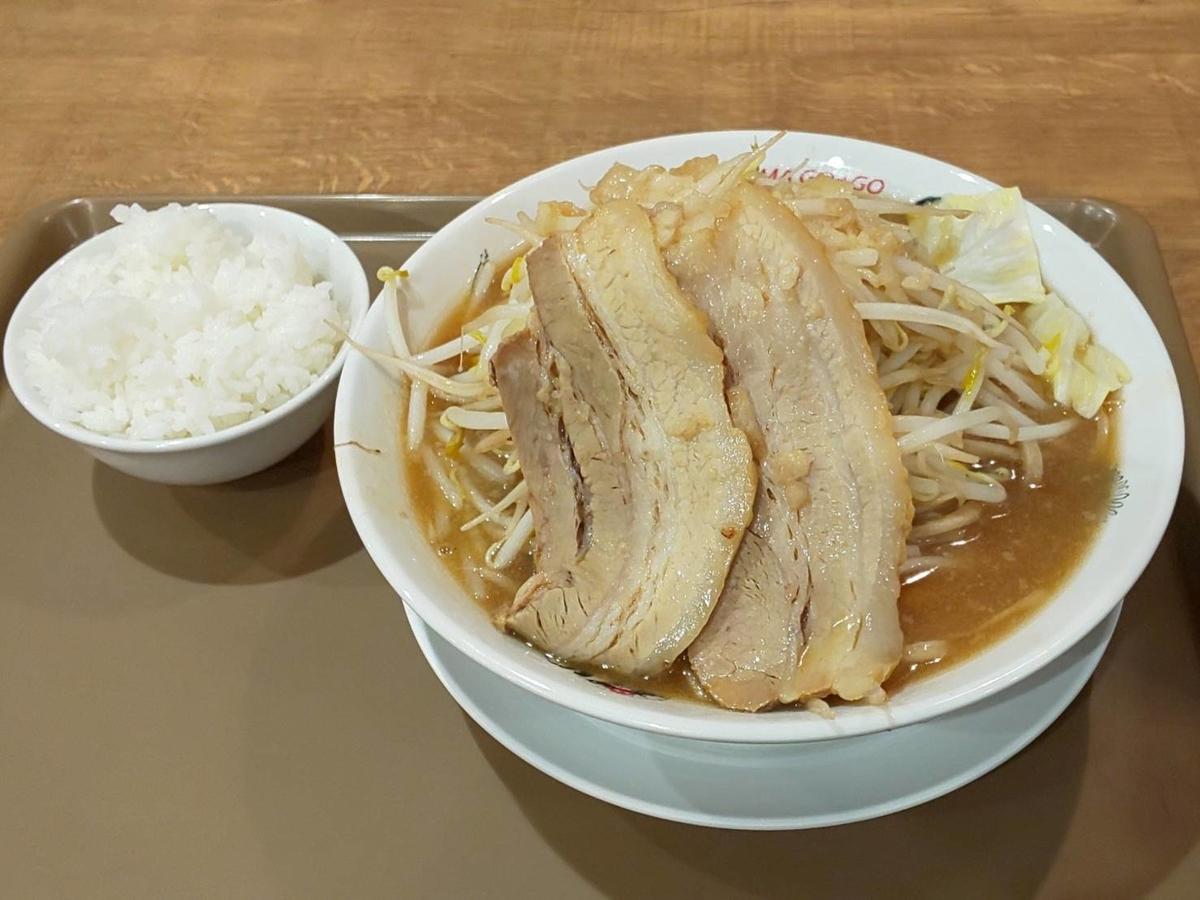 フジヤマ55 天神二郎ラーメン ランチ 麺大盛り無料 感想 口コミ レビュー