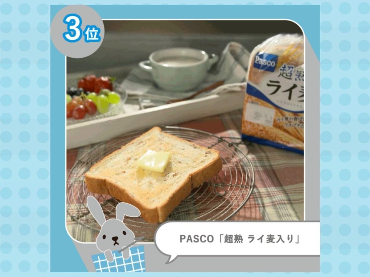 Pascoパスコ超熟ライ麦入り ラヴィット 美味しい 食パンランキング