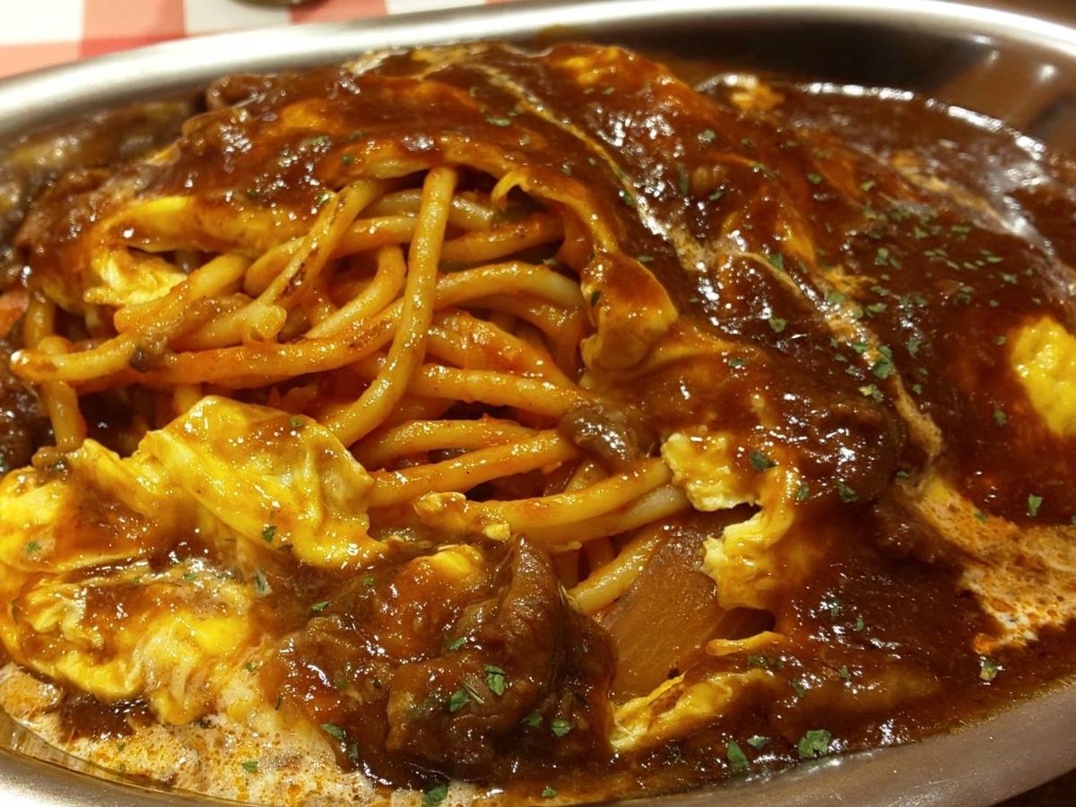 スパゲッティーのパンチョ オムナポ 具材 感想 口コミ レビュー