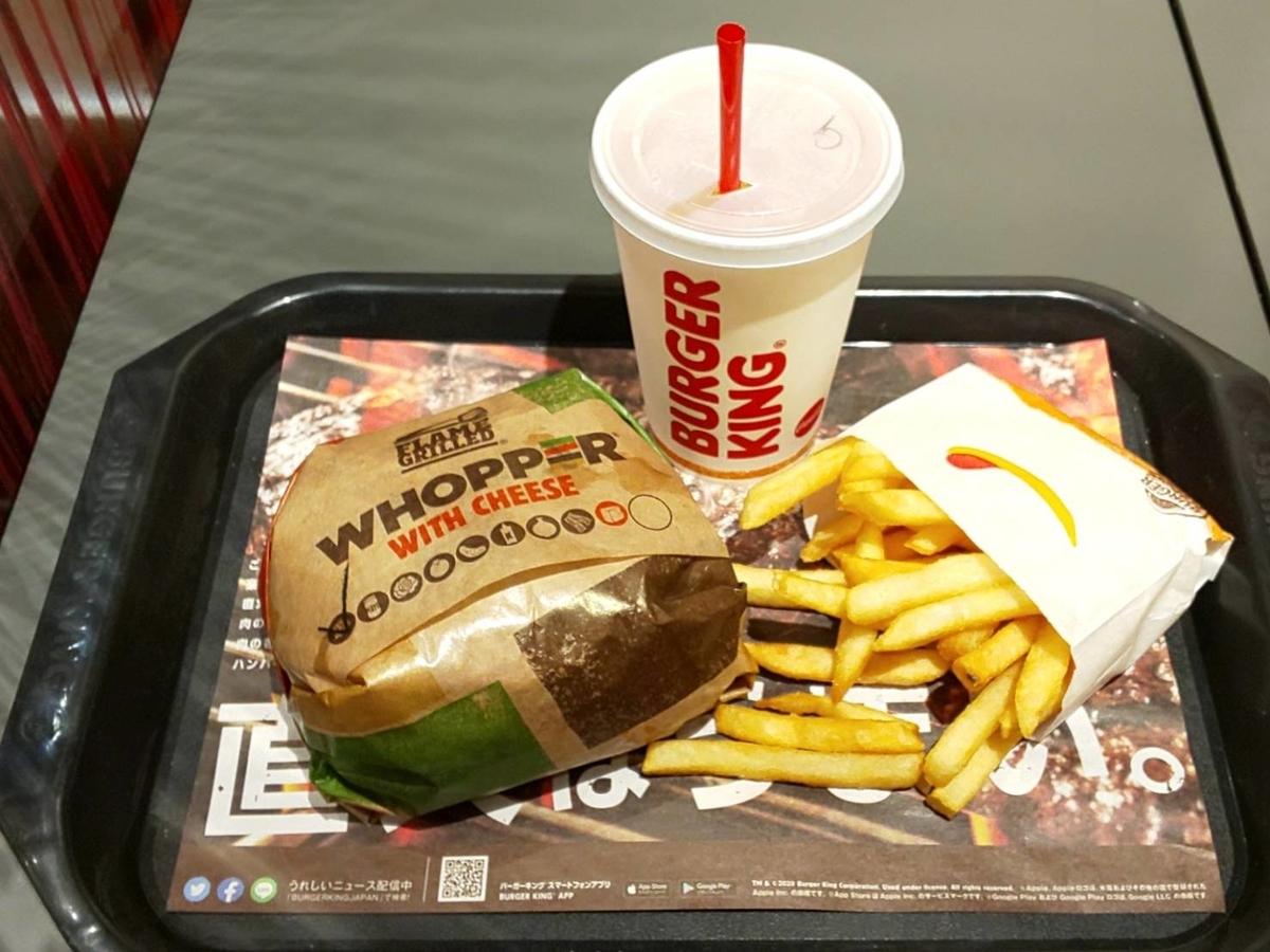 バーガーキング ダブルワッパーチーズセット ポテト ドリンク サイズ 大きさ 感想 口コミ レビュー