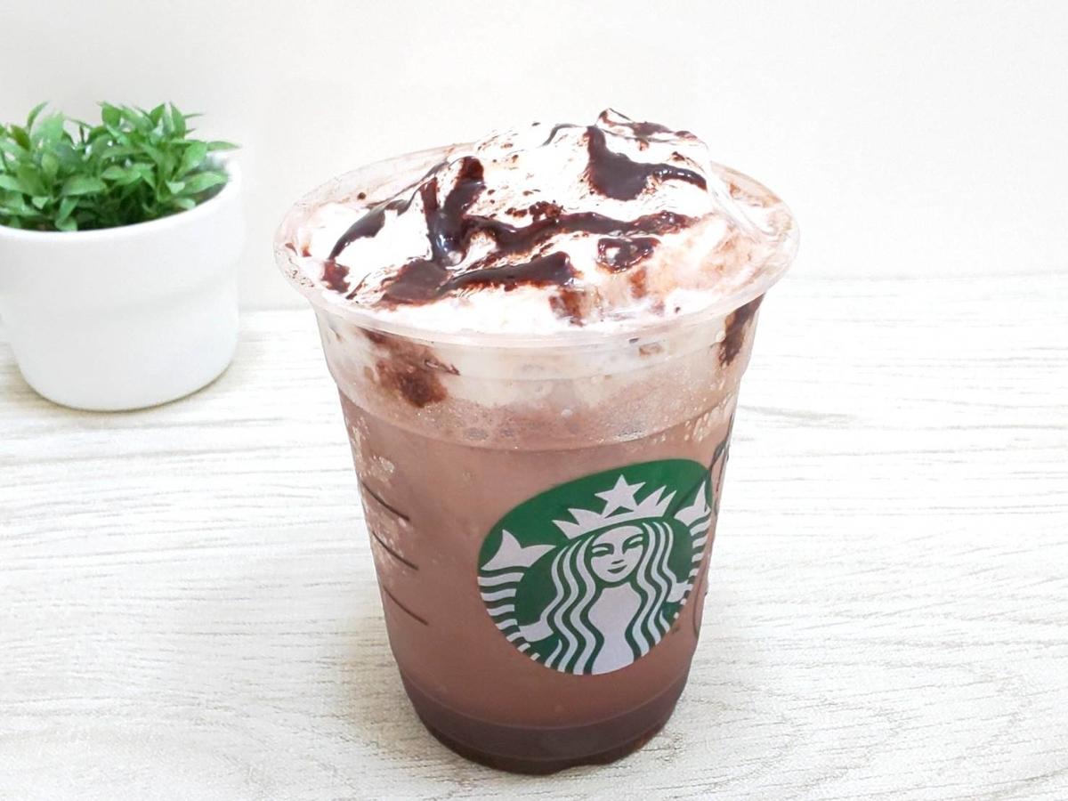 スタバ チョコレートティーケーキフラペチーノ カロリー 栄養成分 感想 口コミ レビュー