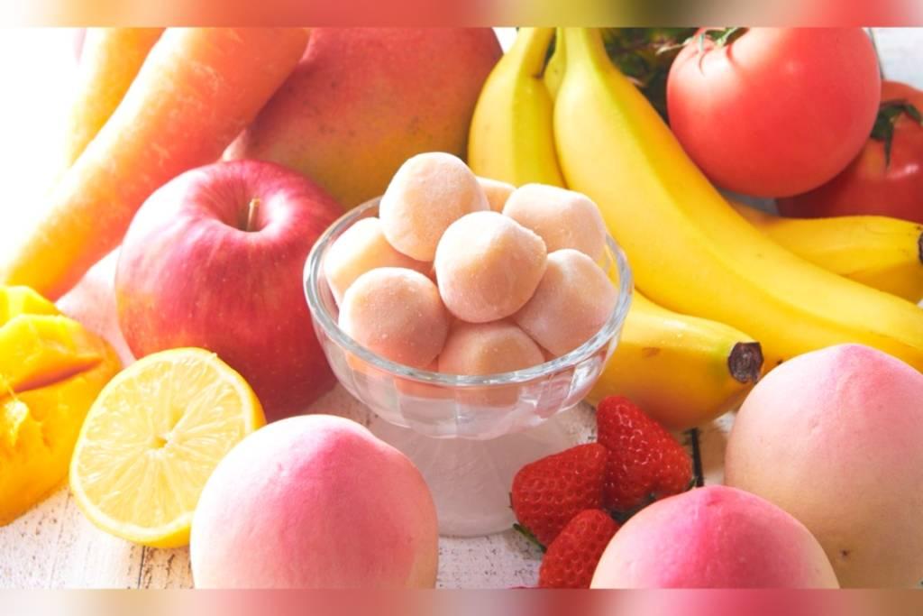 シャトレーゼ スムージーアイスボール白桃ミックス 野菜 果物 種類 口コミ レビュー