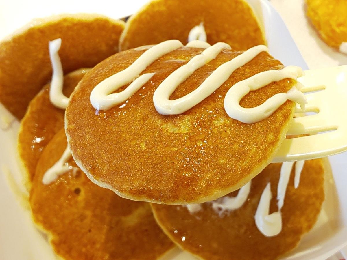 プチパンケーキハッピーセット りんごソース クリーム 少ない 感想 口コミ レビュー