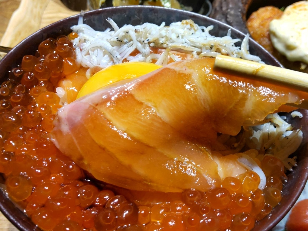 おによめ定食 海鮮丼 魚種類 サーモン いくら しらす 感想 口コミ