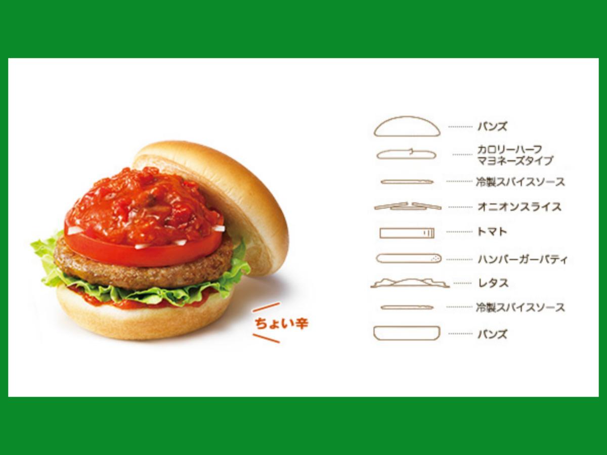 モスバーガー クールスパイストマト 原材料 カロリー 栄養成分 口コミ