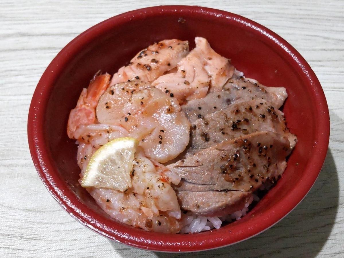 はま寿司 お持ち帰り丼 おすすめ 海鮮レアステーキ丼 値段 口コミ 感想 レビュー