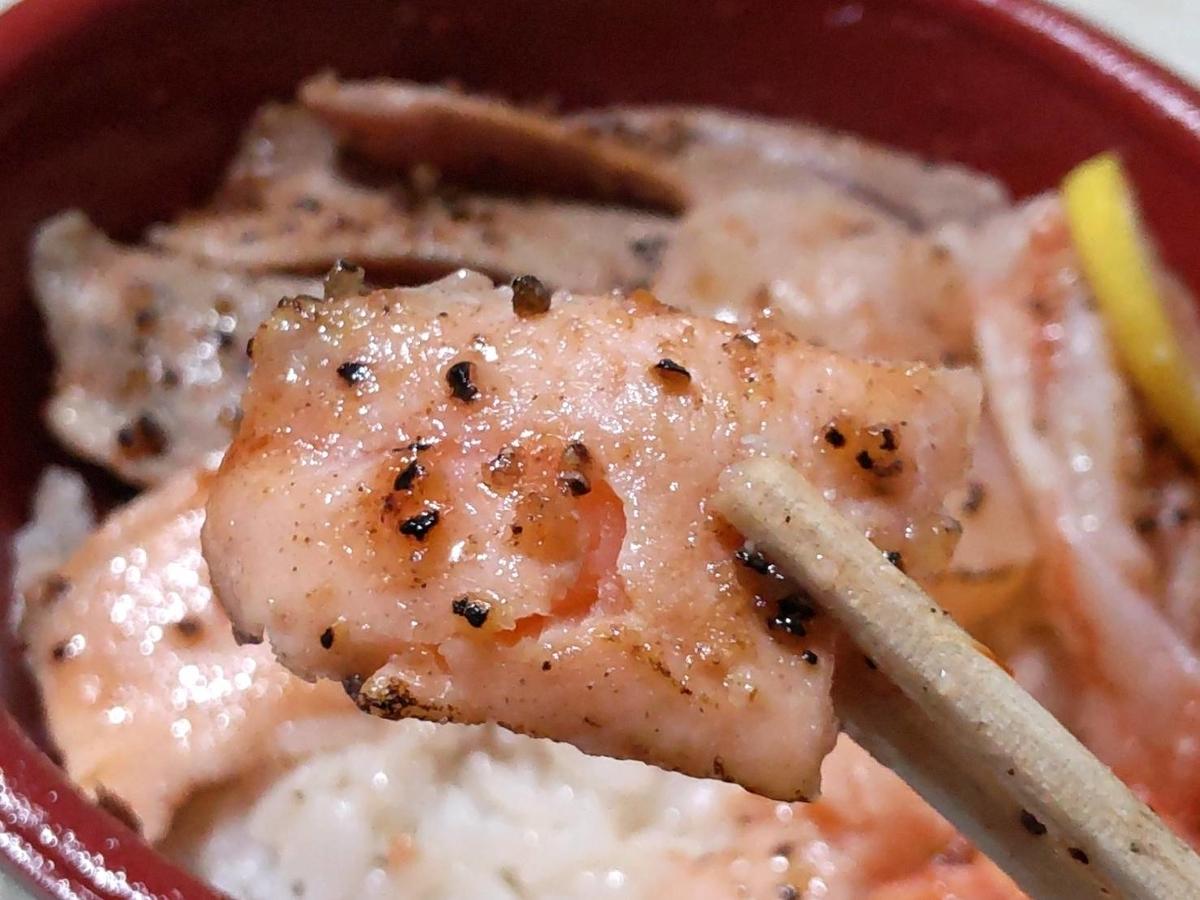 はま寿司 お持ち帰り丼 海鮮レアステーキ丼 サーモン炙り 口コミ 感想 レビュー