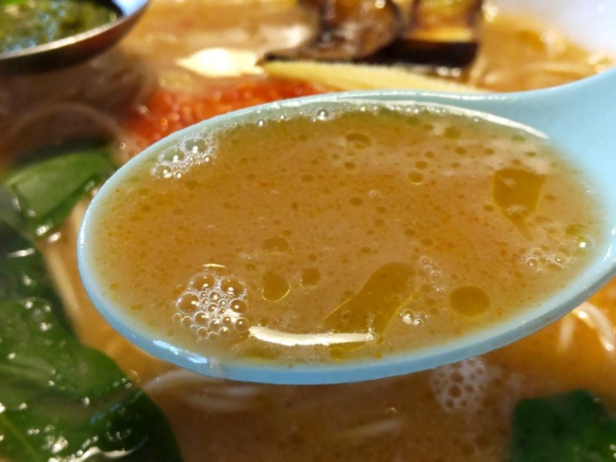 かなで食堂 とまとんこつ ラーメン スープ 口コミ 感想 レビュー 評価