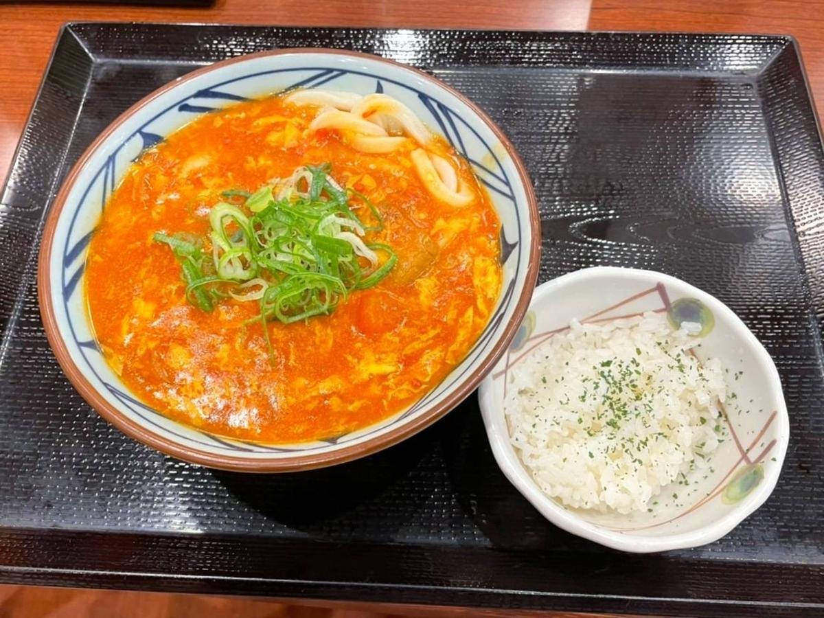 丸亀製麺 トマたまカレーうどん 口コミ 感想 レビュー 評価