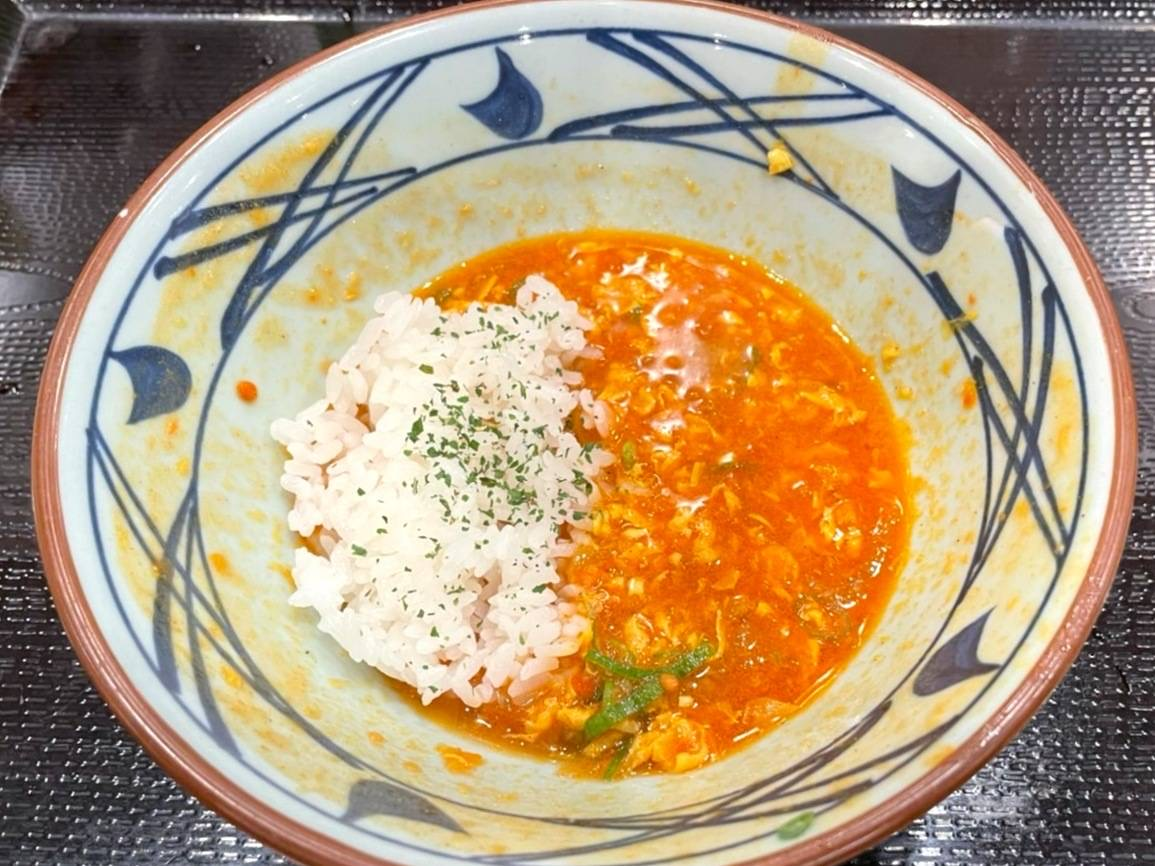 丸亀製麺 トマたまカレーうどん ごはん 食べ方 口コミ 感想 レビュー 評価