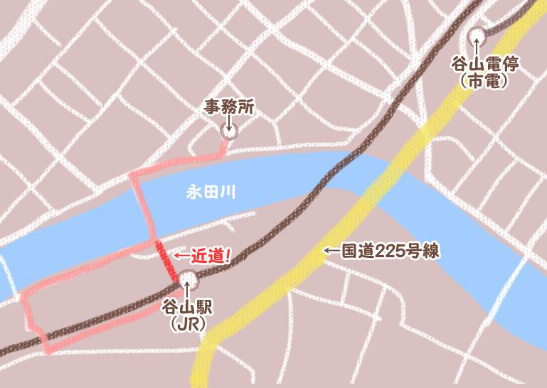 谷山駅周辺地図