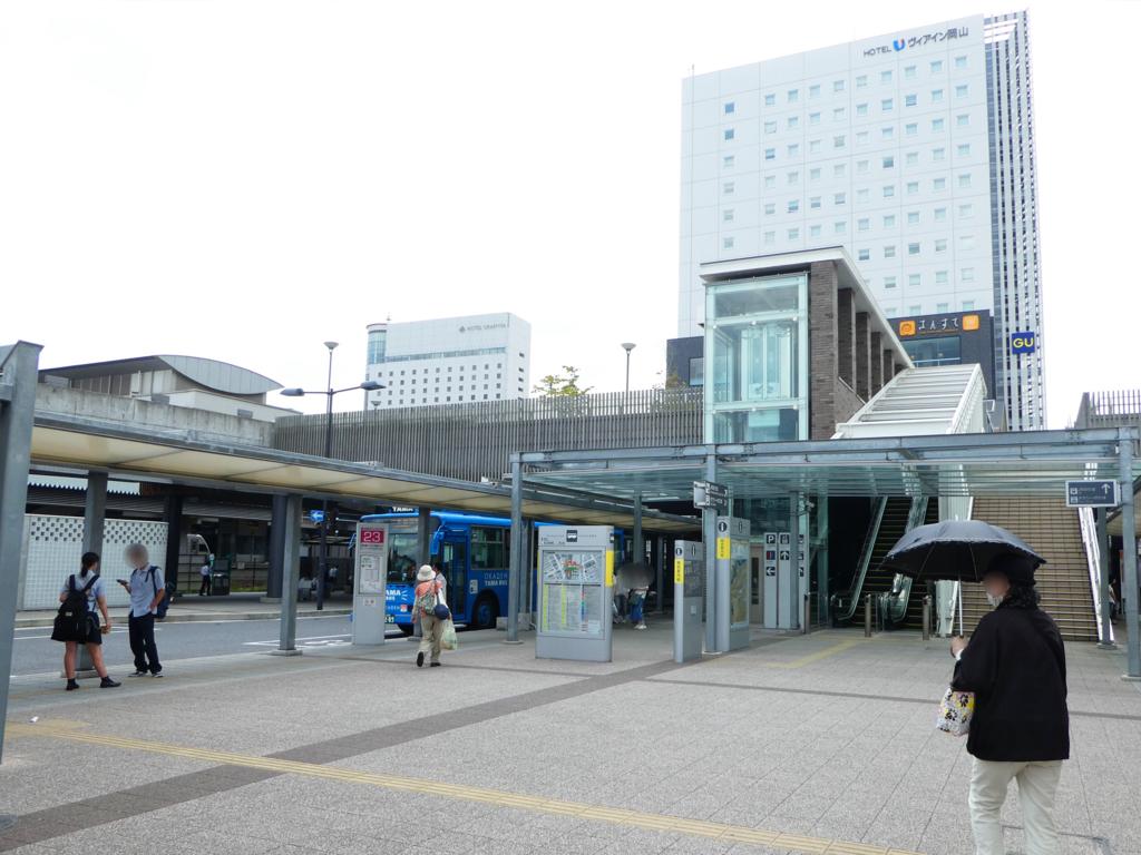岡山駅西口周辺