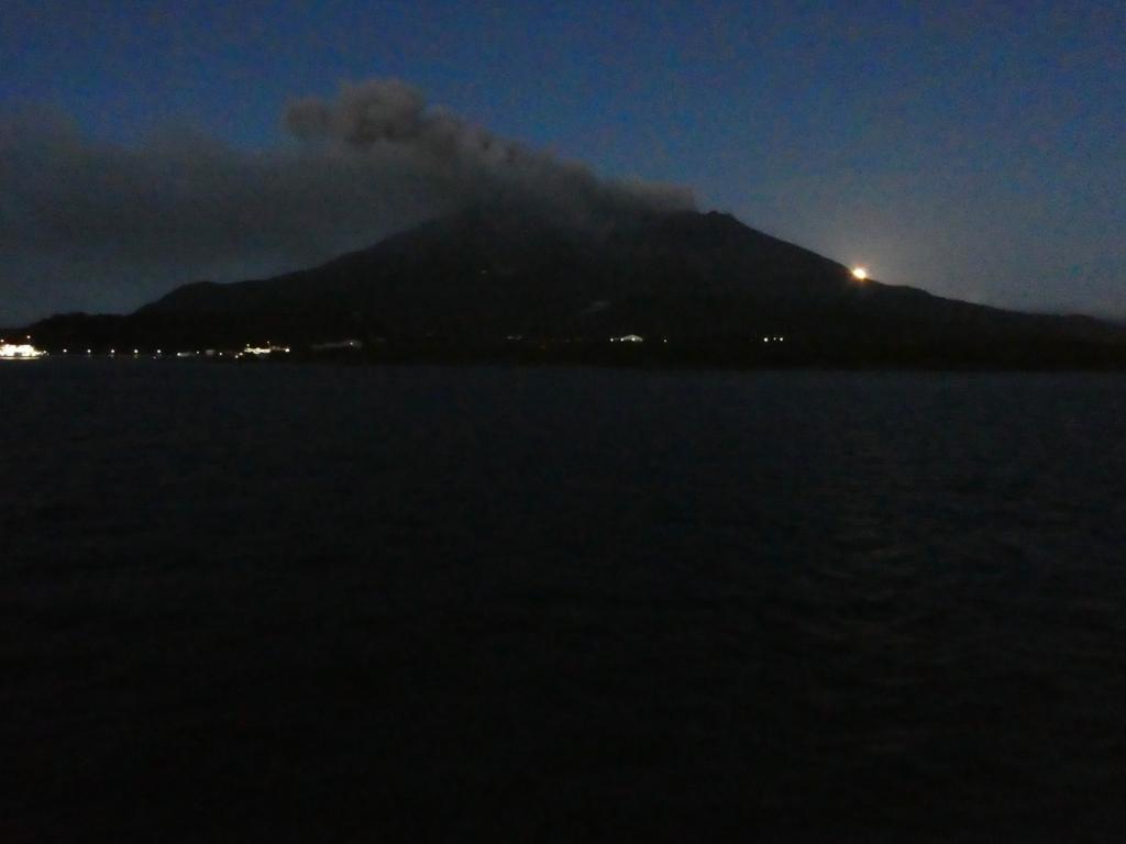 桜島 満月
