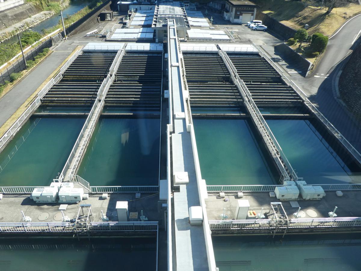 河頭浄水場 フロック形成池 薬品沈殿池