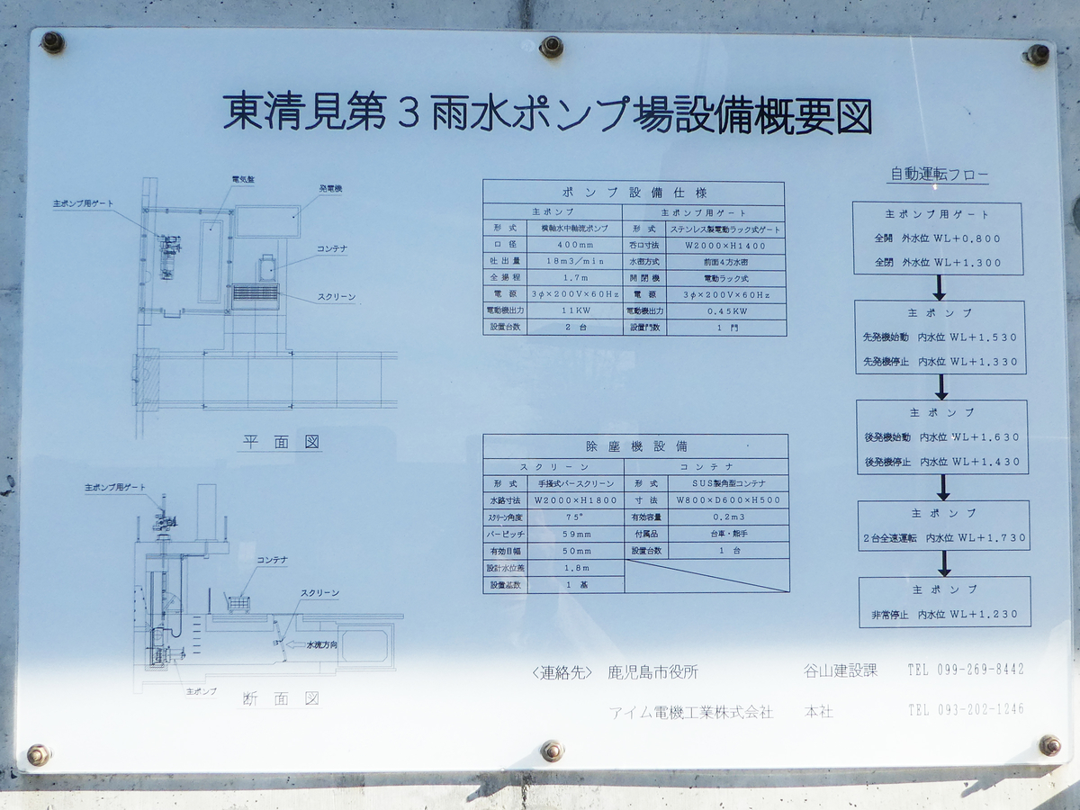 東清見第3雨水ポンプ場