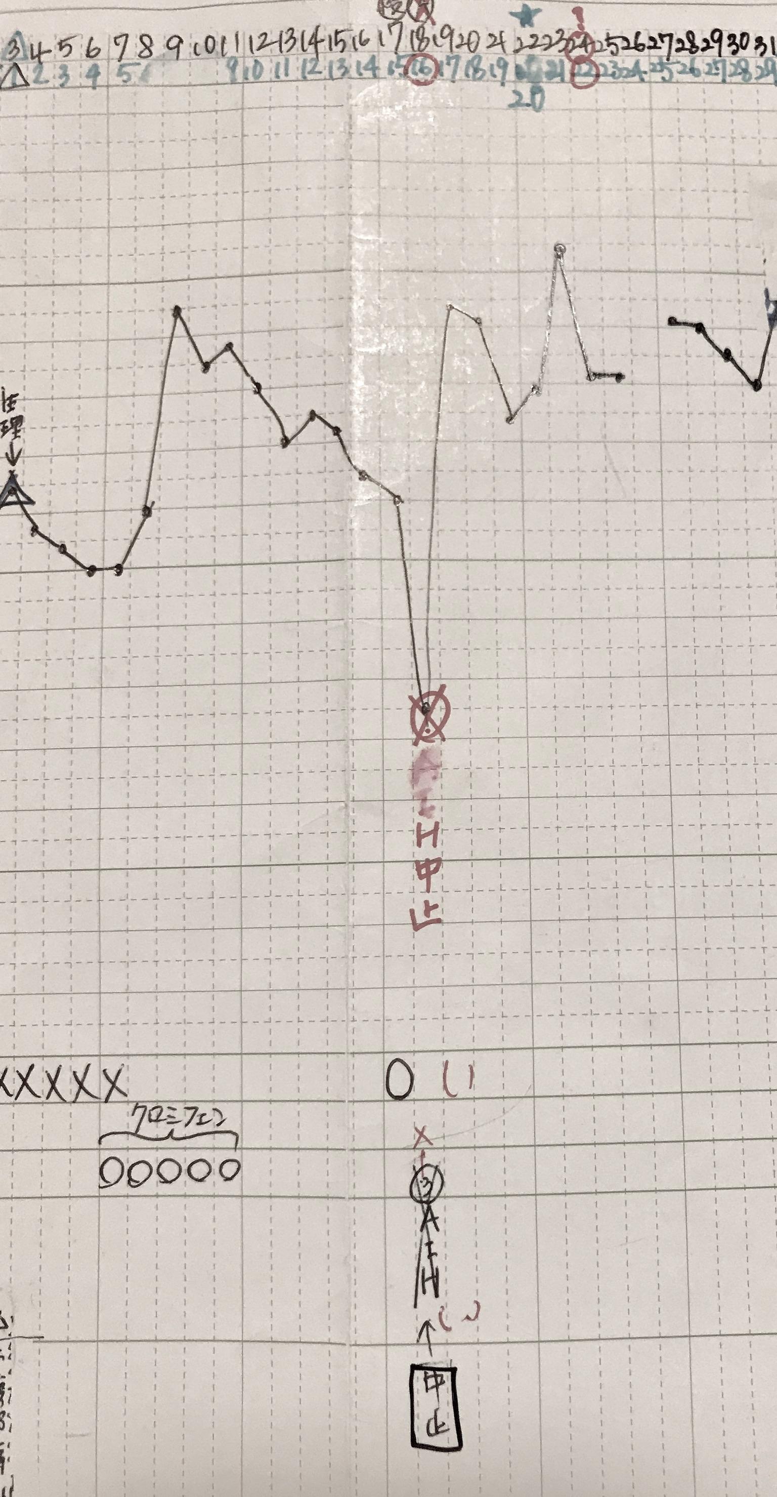 KLC基礎体温表18周期目