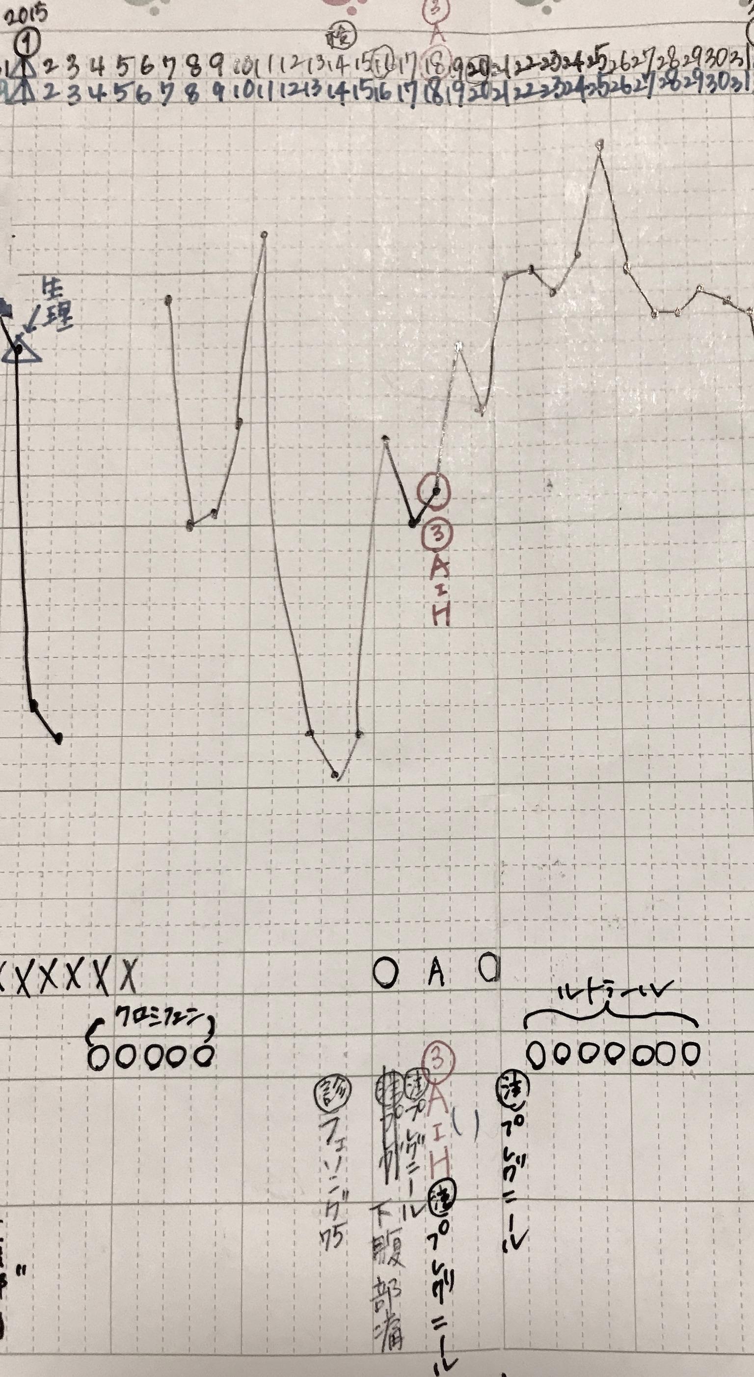 KLC基礎体温表19周期目