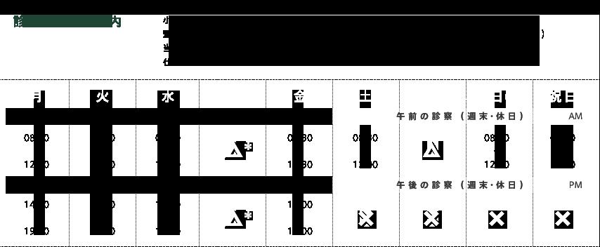 神奈川LC診療時間表
