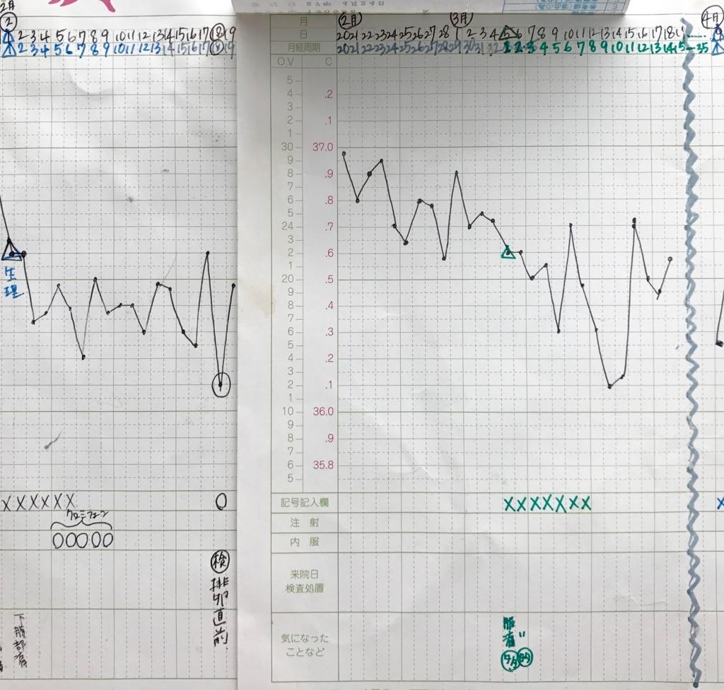 KLC基礎体温表21ステップダウンタイミング期