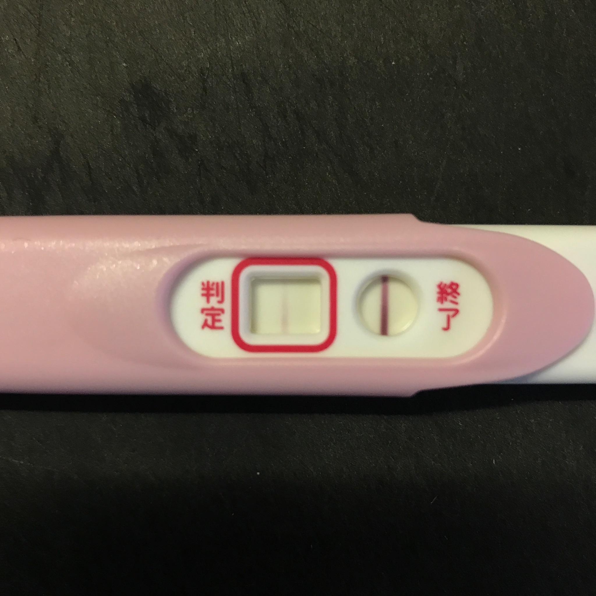妊娠検査薬高温期12日目Pチェックの妊娠判定線