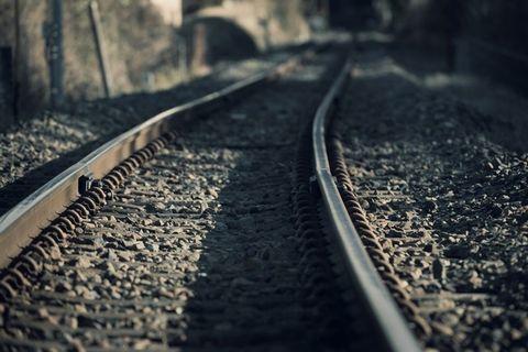 終わり無き線路の写真。