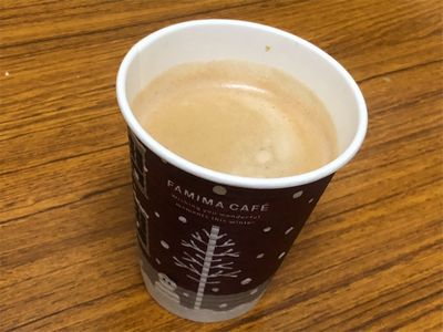 ファミリーマートのXmas仕様コーヒーカップ。