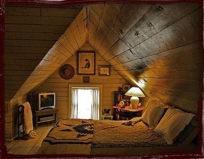 屋根裏部屋。