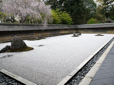 龍安寺方丈庭園。
