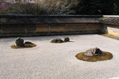 龍安寺方丈庭園石庭。
