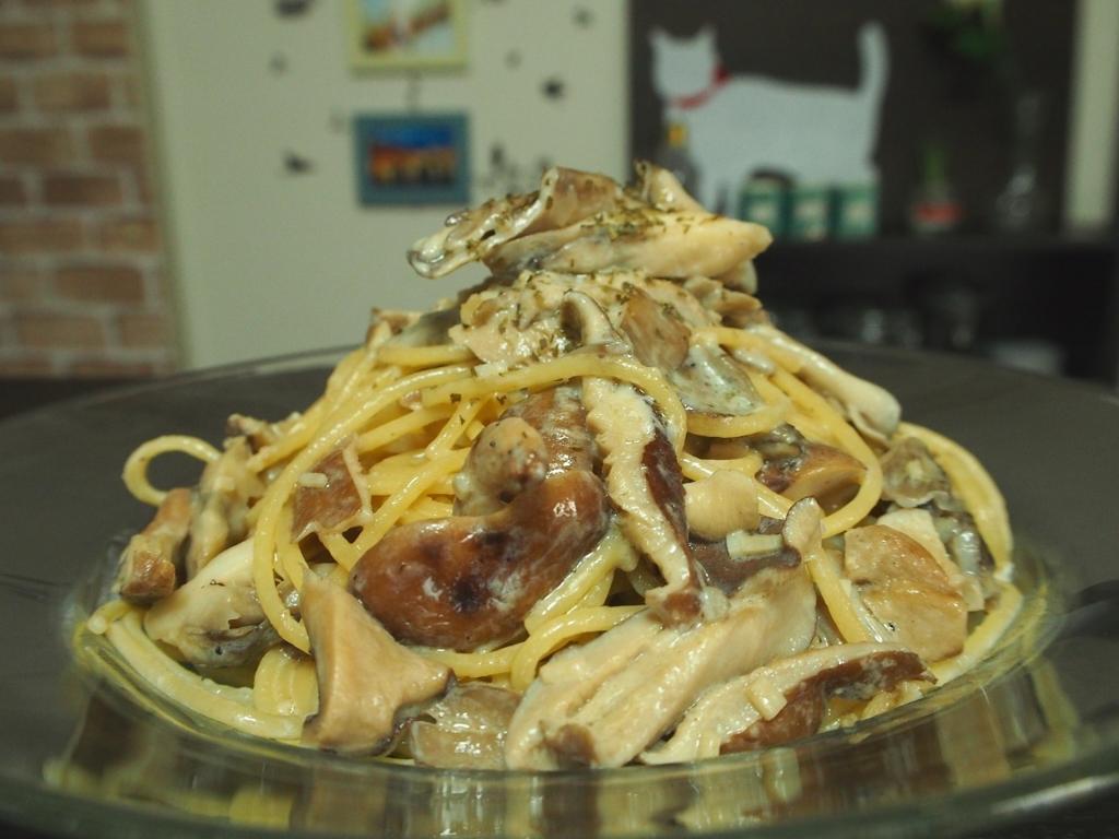 干し椎茸のクリームパスタ