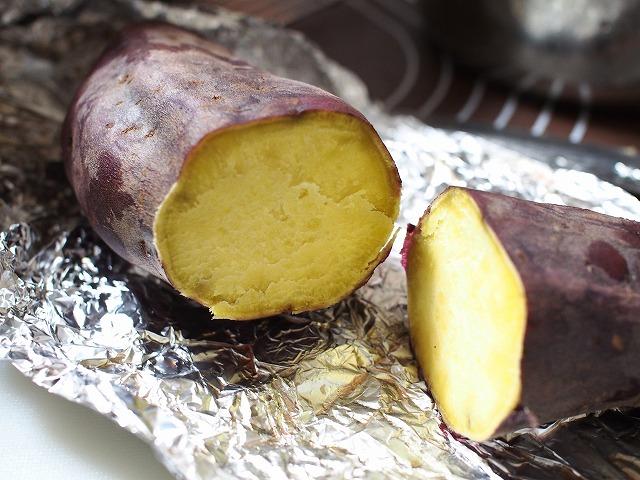 サツマイモとリンゴの食パン工程1