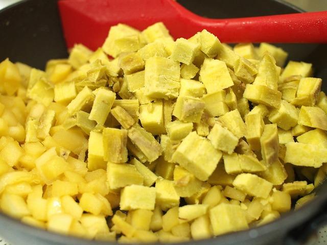 サツマイモとリンゴの食パン工程3