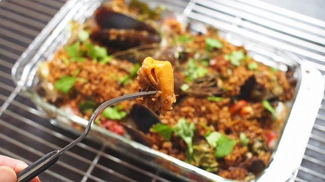 牡蠣・タコ・キノコの香草パン粉焼き3