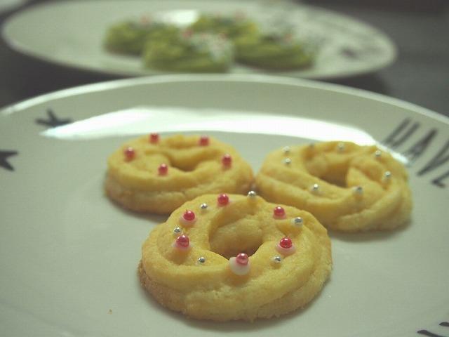 クリスマスリース絞り出しクッキープレーン