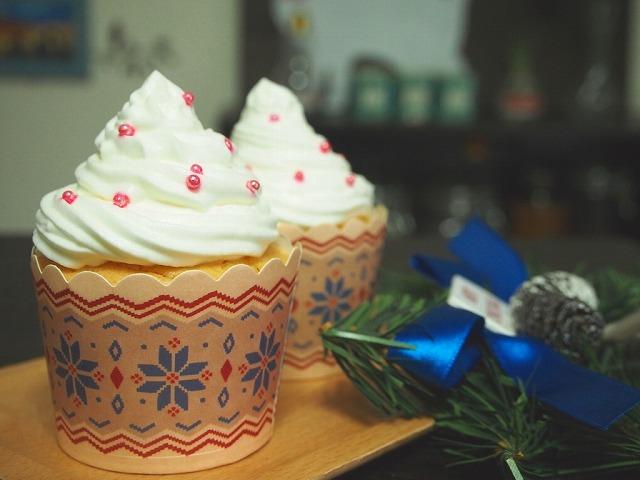 クリスマスカップケーキプレーン