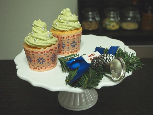 クリスマスカップケーキ抹茶2