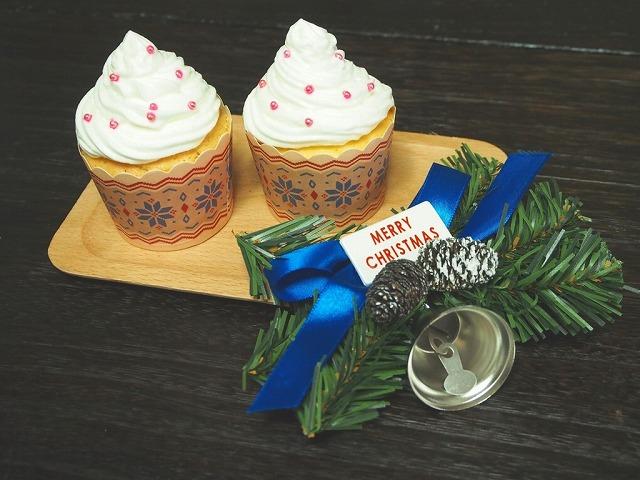 クリスマスカップケーキプレーン2