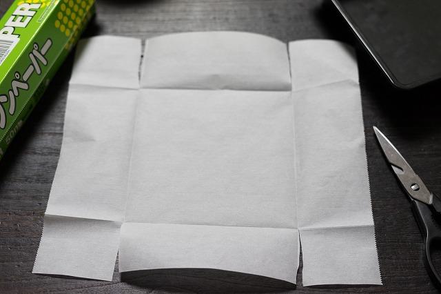 オーブン用シートの切り方
