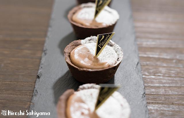 マフィン型でつくるチョコチーズタルト2